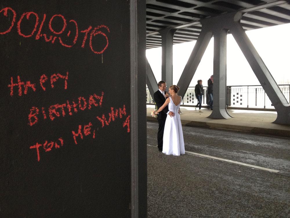 Impressionen auf der Oberhafenbrücke